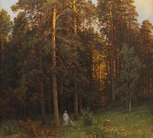 На опушке соснового леса, Шишкин, 1882