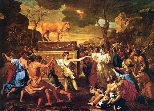 Поклонение золотому тельцу - Никола Пуссен