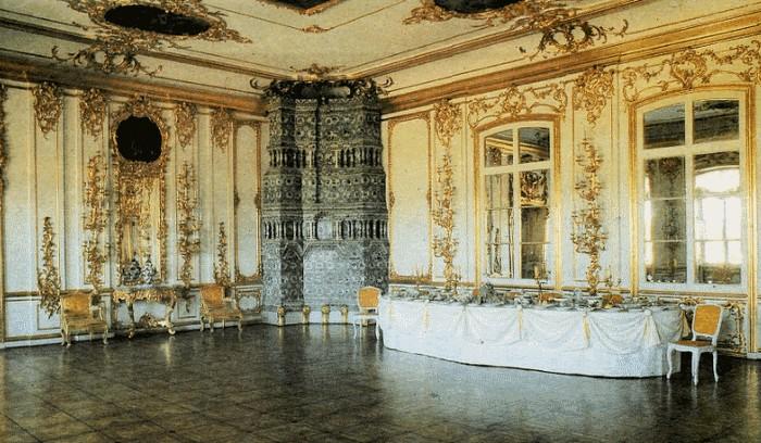 интерьеры дворцов 18века .