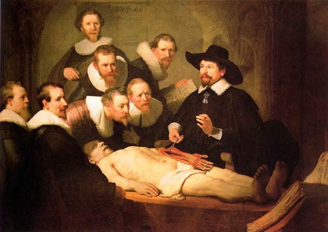 Урок анатомии, Рембрандт, 1632: muzei-mira.com/kartini_gollandia/938-urok-anatomii-rembrandt.html