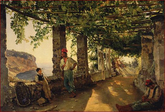 Терраса на берегу моря, С. Ф. Щедрин, 1828: muzei-mira.com/kartini_russkih_hudojnikov/955-terrasa-na-beregu...