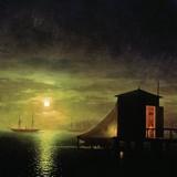 Лунная ночь. Купальня в Феодосии