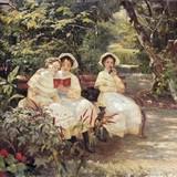 Три сестры в парке