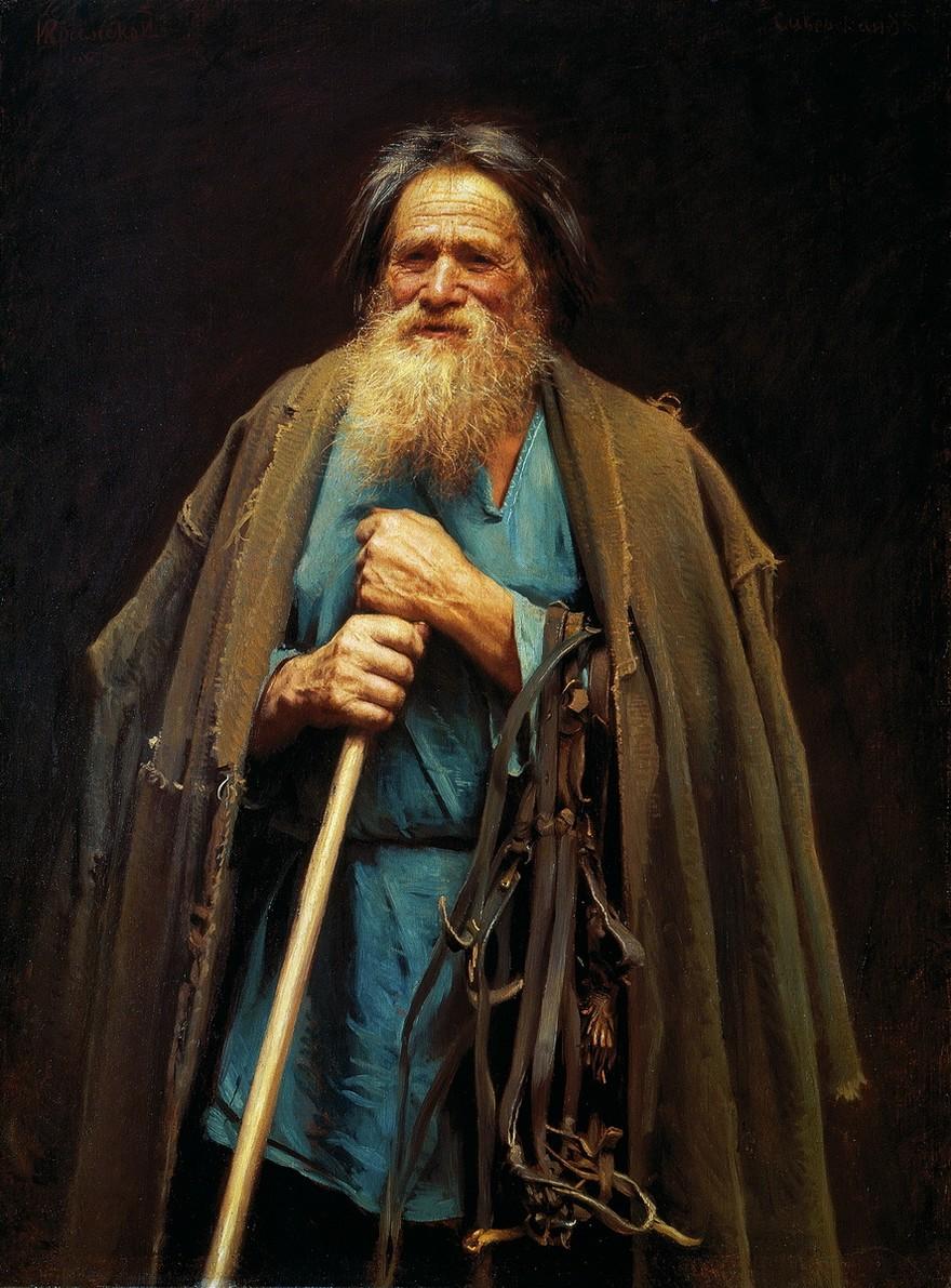Русский крестьянин в 20 веке Krestianin-s-udochkoi-kramskoi+