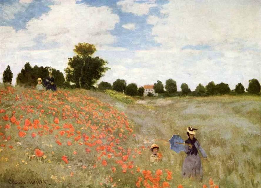 """Картинки по запросу Клод Моне """"Поле маков"""" (1873)"""