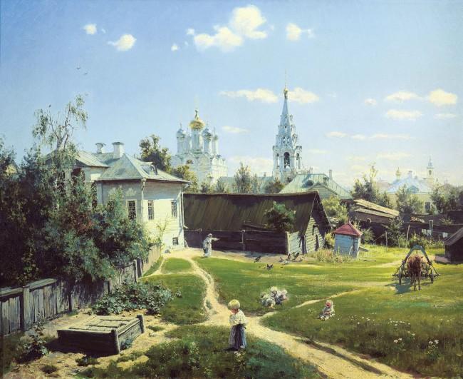 Картинки по запросу «Московский дворик», Василий Поленов, 1878 год