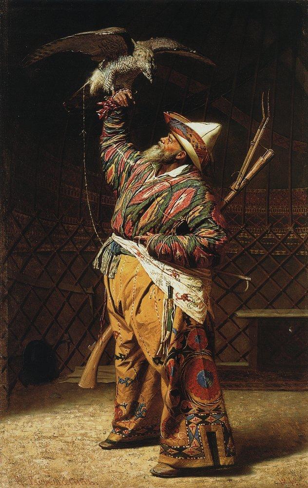 Картинки по запросу верещагин богатый киргизский охотник с соколом