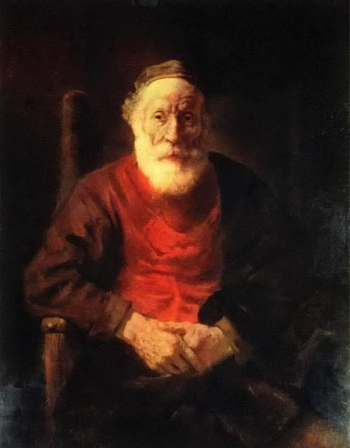 Результат изображения для Рембрандт.  «Портрет старика в красном», 1650.