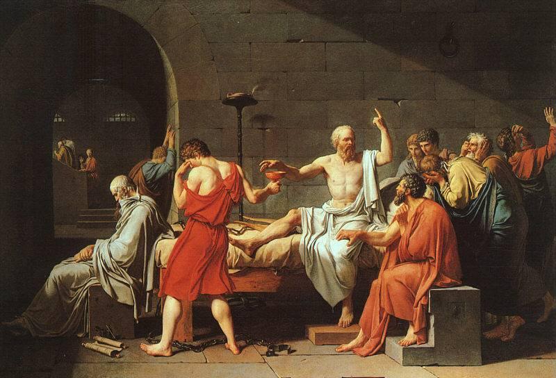 Результат Изображения для СМЕРТИ СОКРАТА.  1787-Жак Луи Давид