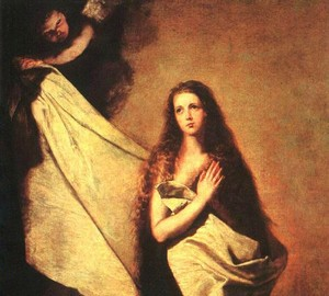 Святая инесса и ангел укрывающий ее покрывалом