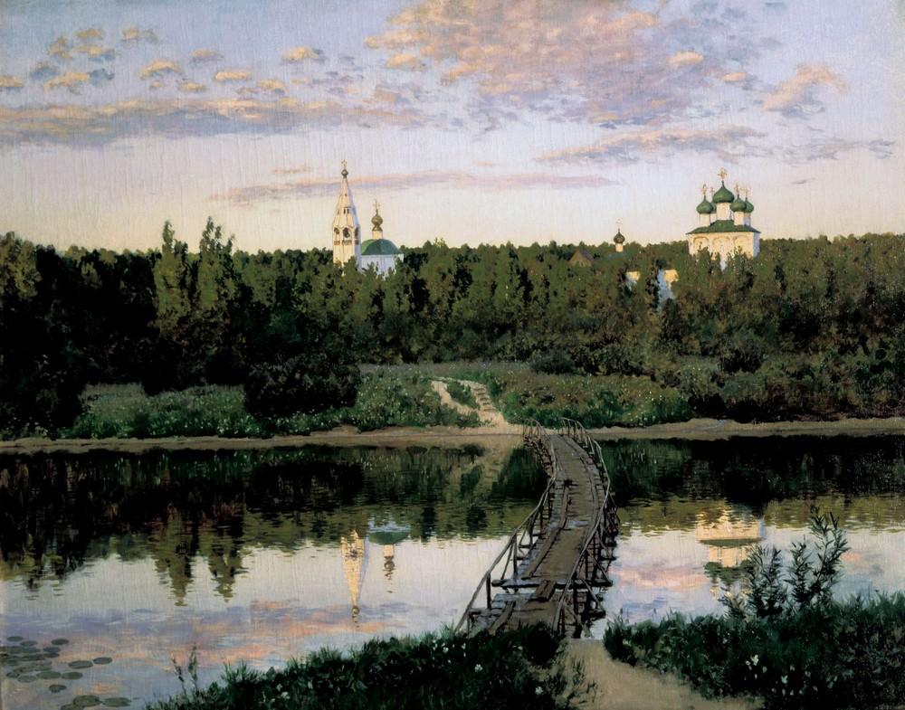 Тихая обитель - Левитан И.  1890. Холст, масло. 87,5х108. Государственная Третьяковская галерея