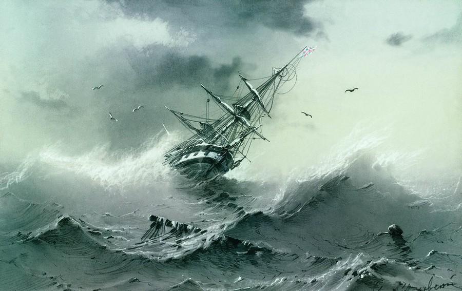 Буря Айвазовский Описание