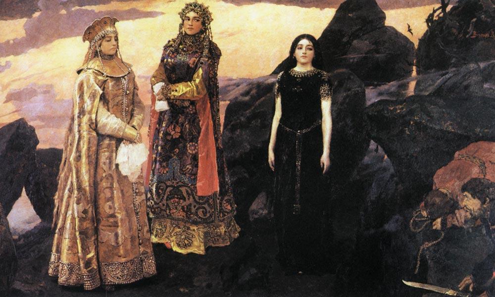 Картинки по запросу васнецов три царевны подземного царства