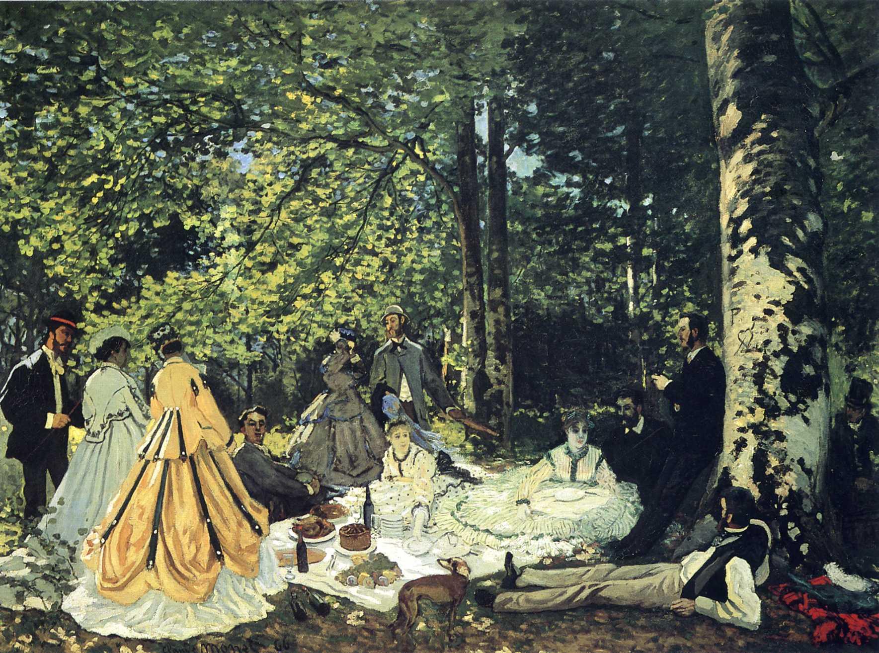 """Картинки по запросу Клод Моне """"Завтрак на траве"""" (1865)"""