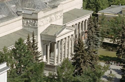 Музей изобразительных искусств имени А.С. Пушкина с высоты
