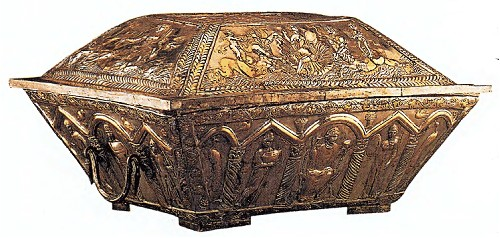 Этот свадебный ларец был найден на Эсквилине - одном из трех холмов, между которыми расположен Римский форум. Он хранится в коллекции Британского музея.