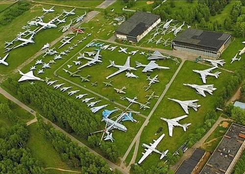 Музей Военно-Воздушных Сил России вид сверху
