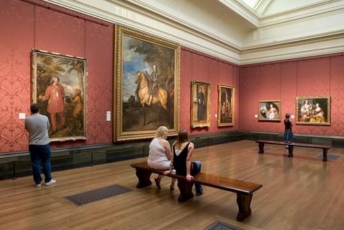 Зал Британской живописи в Национальной лондонской галерее