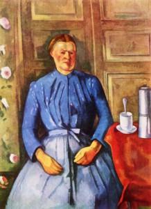 Женщина с кофейником - Сезанн