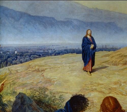 Увеличенный фрагмент картины Явление Христа народу (Явление Мессии)