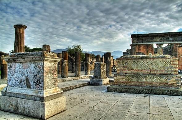 Часть города Помпеи
