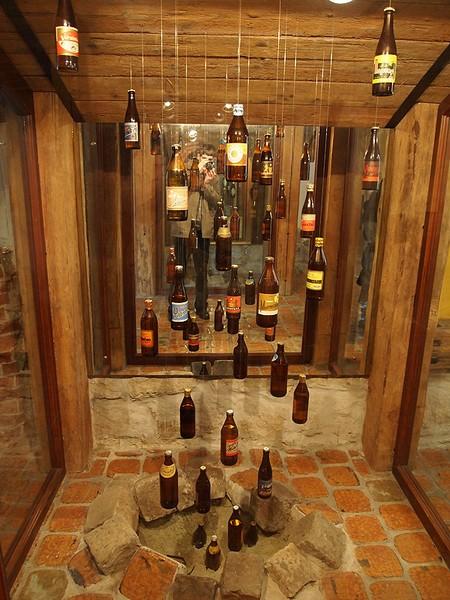 Вот такие вот экспонаты в музее пива во Львове