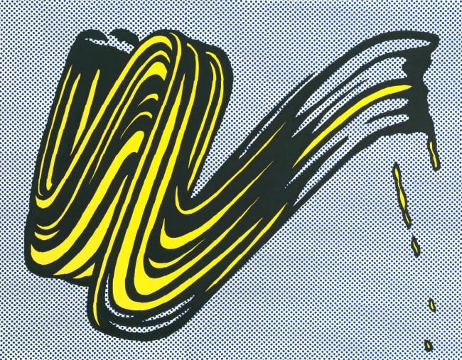 Картина Мазок - Рой Лихтенштейн