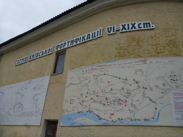 Схема киевской фортификации