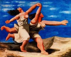 Две женщины, бегущие по пляжу - Пикассо