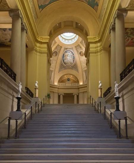 Лестница. Музей изящных искусств в Бостоне