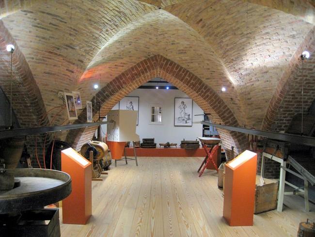 Один из залов музея сыра