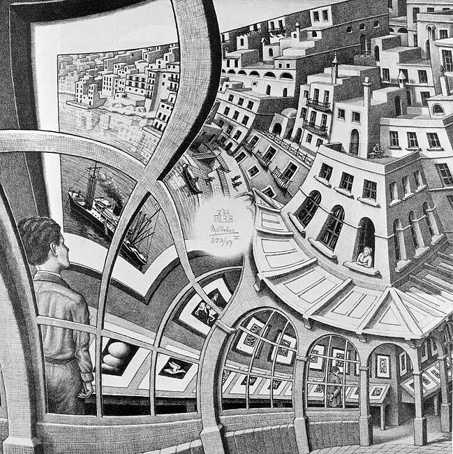 Одна из работ Эшера - перспектива