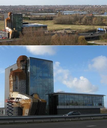 Вид с трассы на голландский музей тела