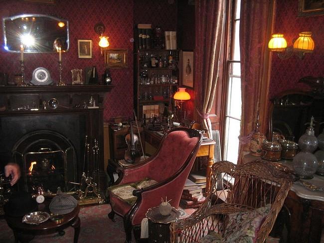 Гостиная на втором этаже музея Шерлока Холмса
