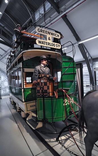 Конка в музее транспорта в Лондоне
