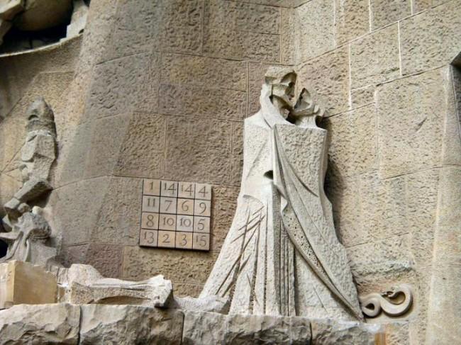 Сумма по строкам, столбцам и диагоналям даёт число 33 — число лет жизни Христа