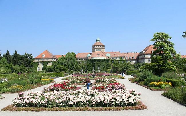 Вид издали на Ботанический институт, Мюнхен