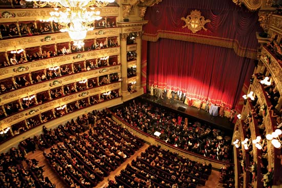 Театр Ла Скала вид сверху