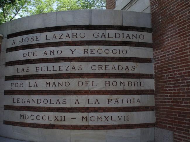Надпись на стене в музее Ласаро Гальдиано