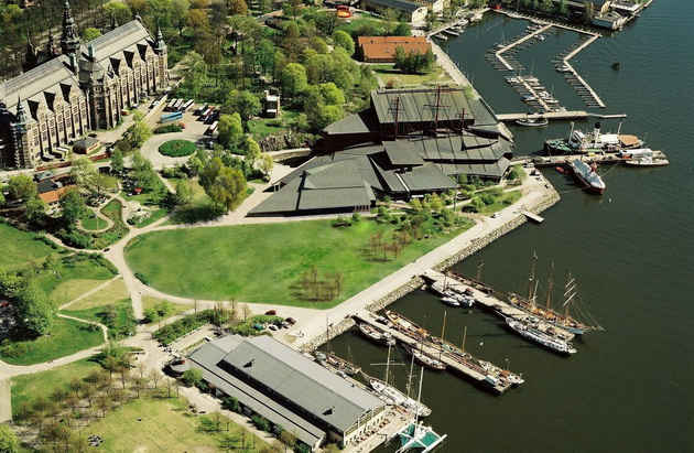Вид на музей Васа с высоты