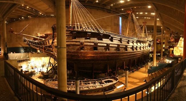Фото корабля Васа в музее