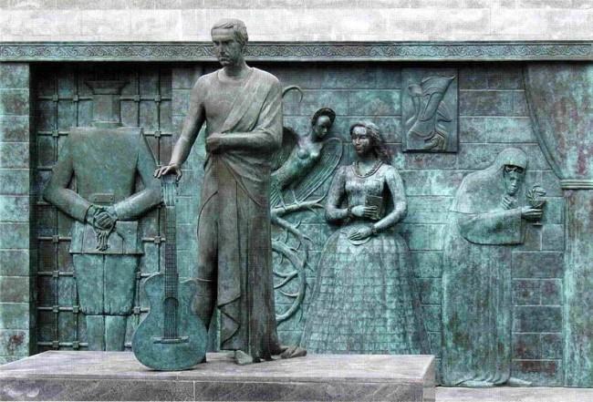 Памятник Высоцкому в Самаре
