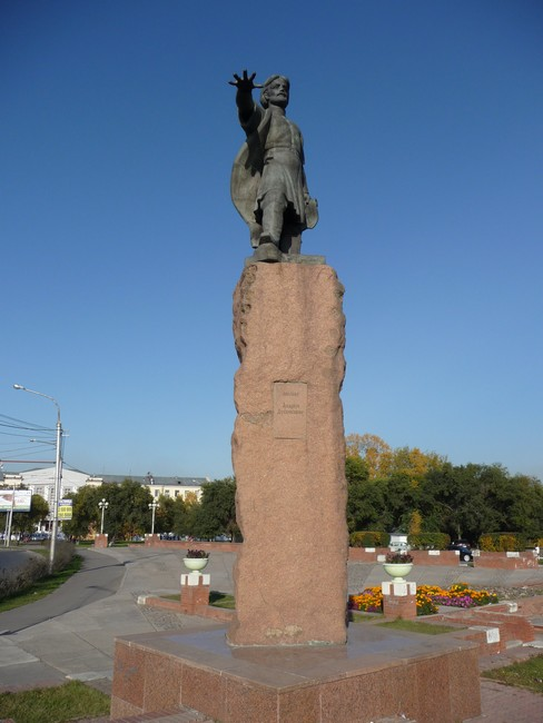 Скульптура основателя Красноярска Андрея Дубенского