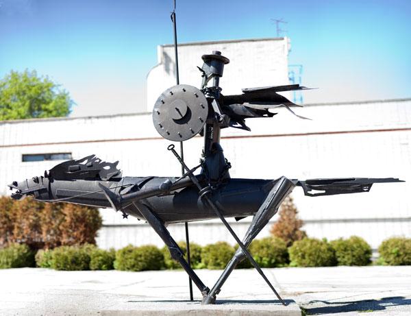 Скульптура Дон Кихота в Омске