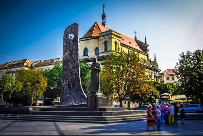 Памятник Шевченко, Львов