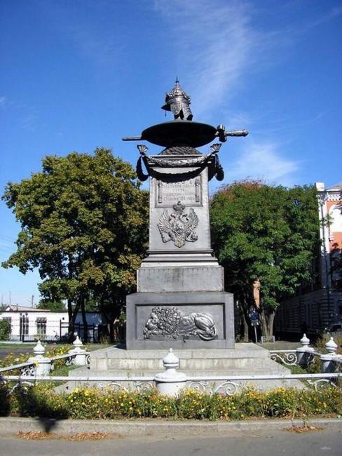 Петр Первый отдыхал после Полтавской битвы, памятник