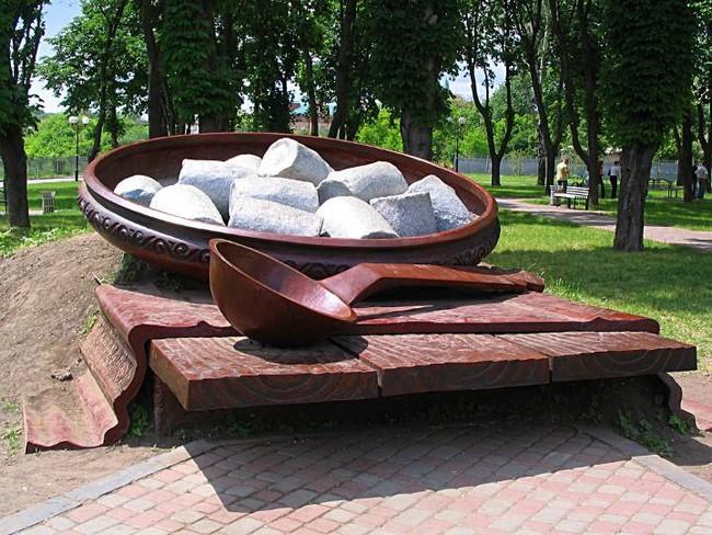 Памятник галушке, Полтава