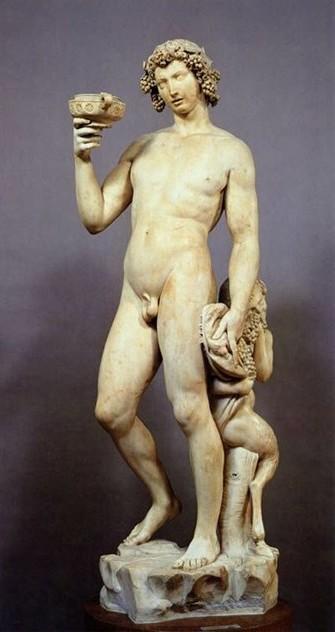 Фигура Бахуса, автор скульптуры Микеланджело