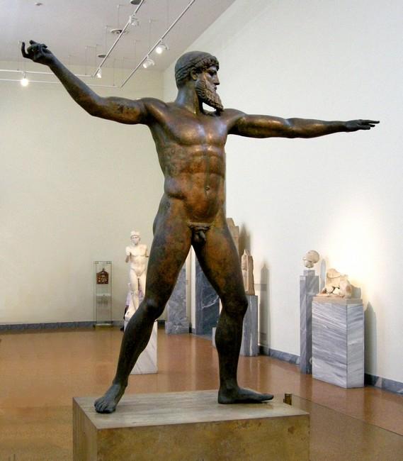 Скульптура Посейдона, Афины