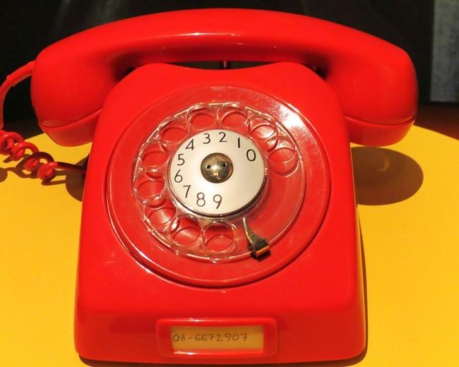 Красный телефон в музее Абба